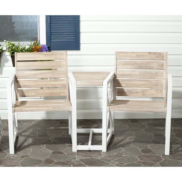 Denslowe Wood Outdoor Bench by Rosecliff Heights