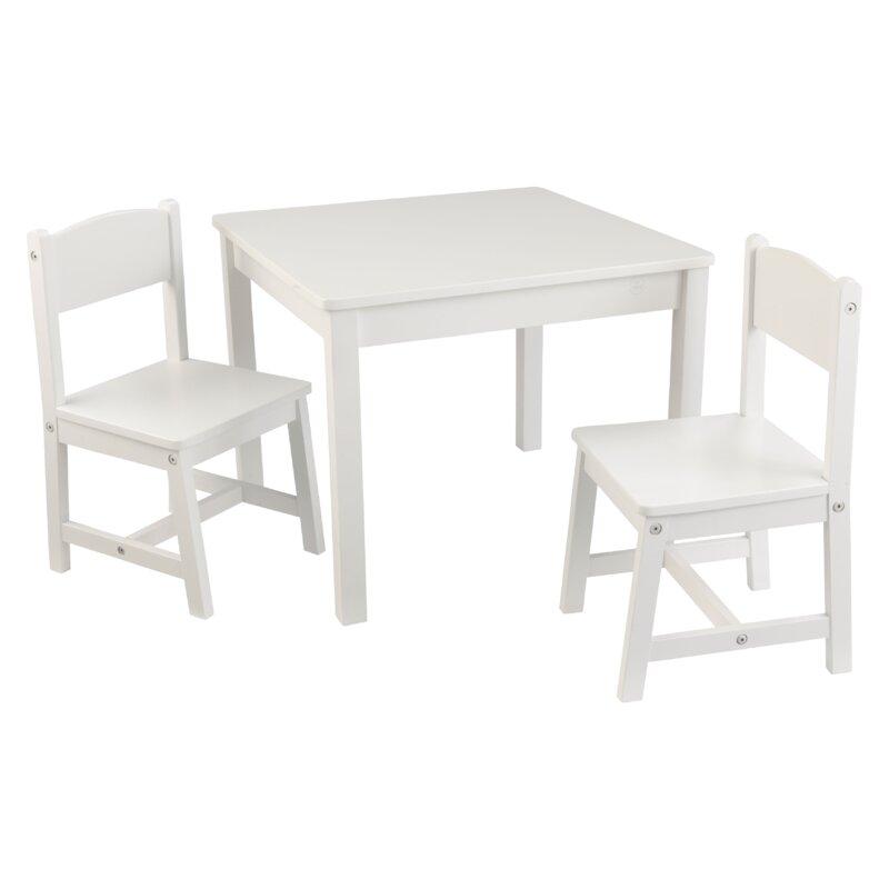 Aspen Kids 3 Piece Table and Chair Set  sc 1 st  Wayfair & KidKraft Aspen Kids 3 Piece Table and Chair Set \u0026 Reviews | Wayfair