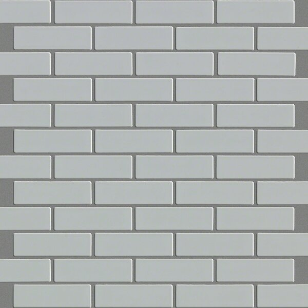 Sophisticated Mini Brick 1 x 2 Porcelain Mosaic Tile in Gray by Shaw Floors