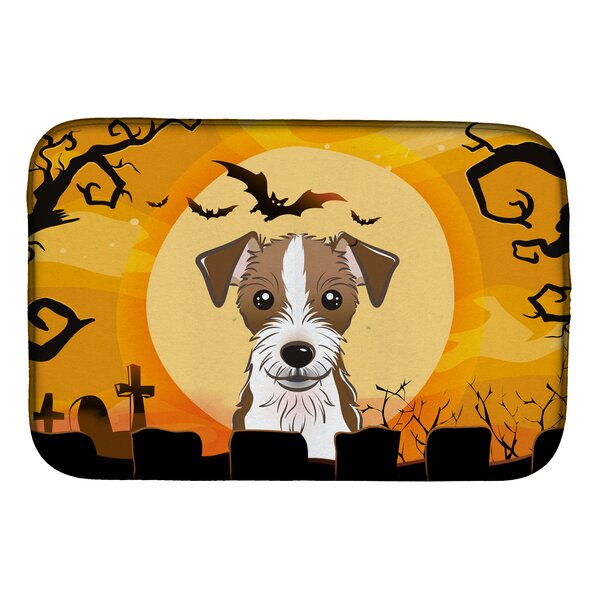 Halloween Jack Russell Terrier Dish Drying Mat by Caroline's Treasures