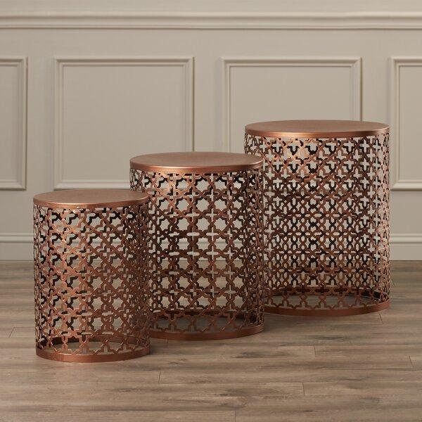 Rhalem 3 Piece Nesting Table by World Menagerie