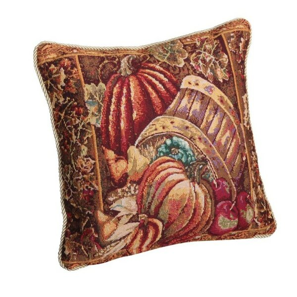 Fall Harvest Bushel Basket Pillow Cover by Violet Linen