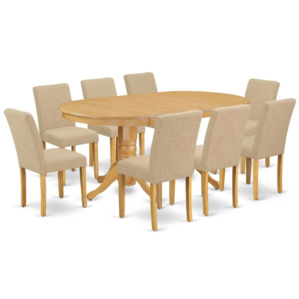 LaRena 9 Piece Extendable Solid Wood Dining Set by Winston Porter Winston Porter