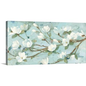 Magnolia Branch by Albena Hristova Graphic Art on Wrapped Canvas by Great Big Canvas