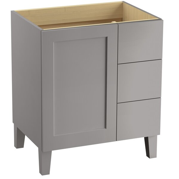 Poplin Tones 30 Vanity with Furniture Legs, 1 Door and 3 Drawers on Right by Kohler