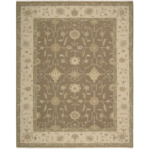 Burnham Hand-Woven Mocha Area Rug by Darby Home Co