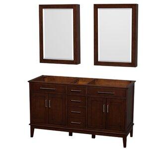 Hatton 59 Double Bathroom Vanity Base Wyndham Collection