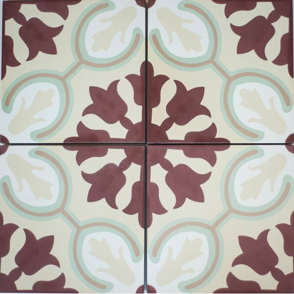 8 x 8 Avallon Cement Decorative Concrete Tile (Set of 4) by Rustico Tile & Stone