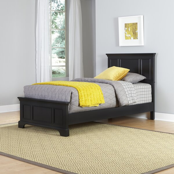 Palmhurst Twin Panel Bed with Mattress by Harriet Bee
