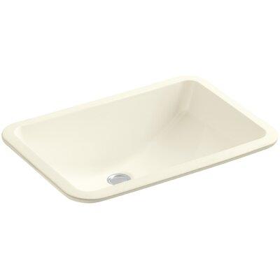 Undermount Sink Ceramic Rectangular Overflow Sink Biscuit photo