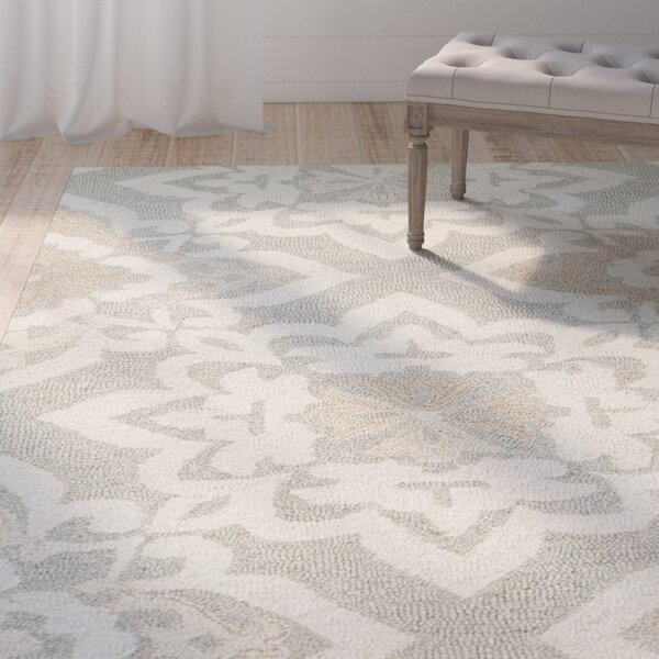 Alys Hand-Hooked Wool Gray Area Rug by One Allium Way