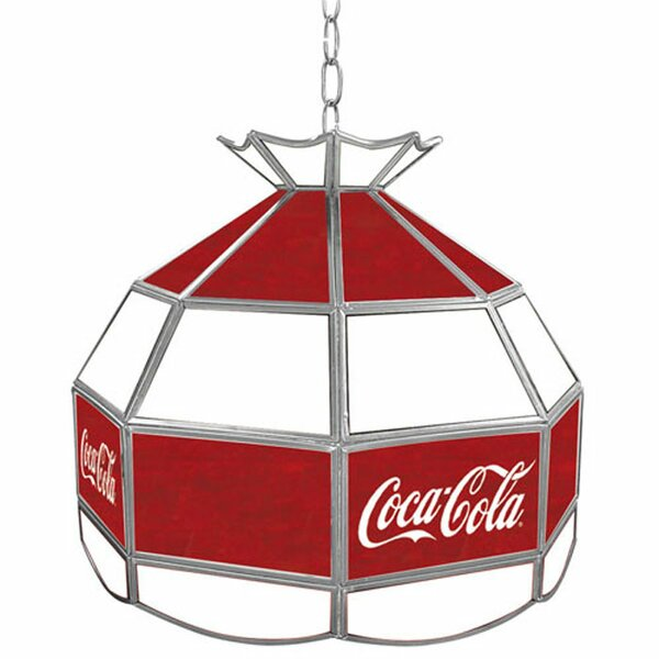 Coca Cola Vintage Stained Tiffany Lamp by Trademark Global