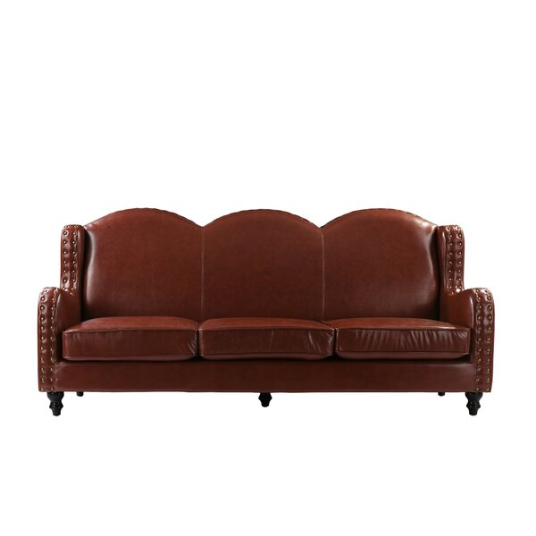 #1 Rines Leather Standard Sofa By Charlton Home Comparison