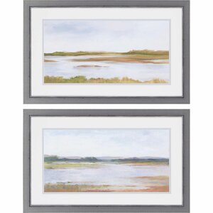 Wetland Panorama I by Harper 2 Piece Framed Painting Print Set by Paragon