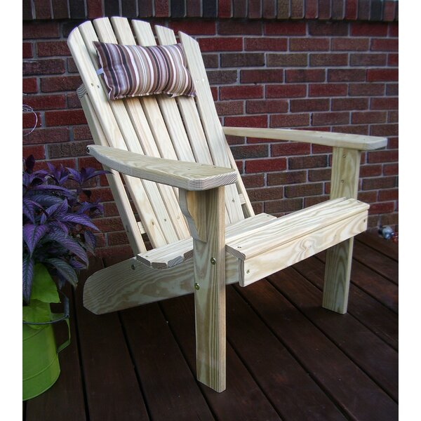 Sonia Fanback Wood Adirondack Chair by Millwood Pines Millwood Pines