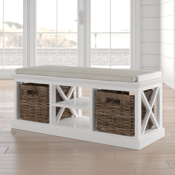 Sroda Wood Storage Bench by Beachcrest Home