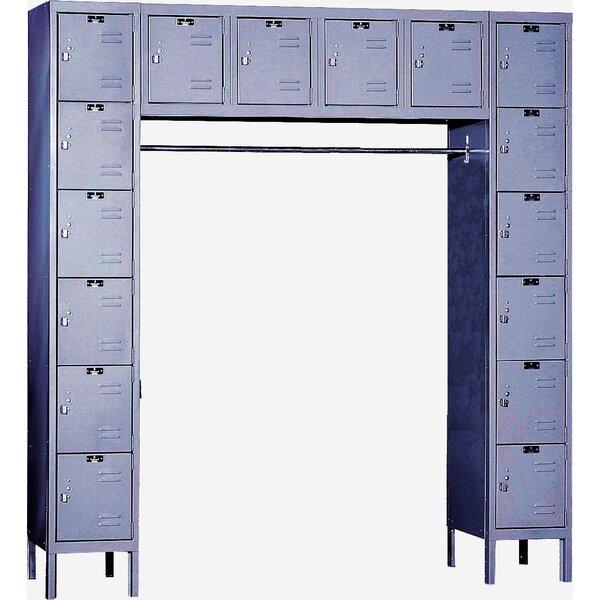 Premium 6 Tier 1 Wide Employee Locker by Hallowell