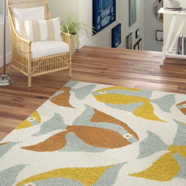 Sereno Handmade Abstract Indoor/Outdoor Area Rug by Beachcrest Home