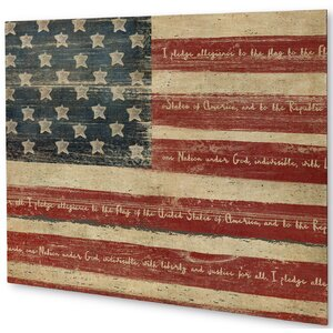 'American Flag' Wall Art on Plaque by August Grove