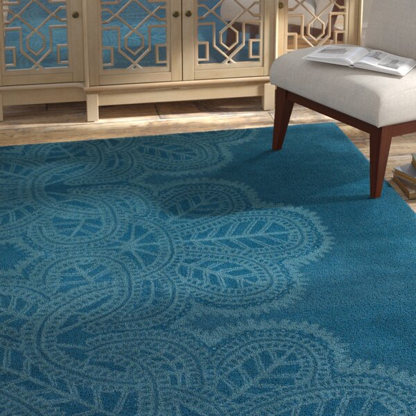 Areyanna Cactus Blue Area Rug by Bungalow Rose