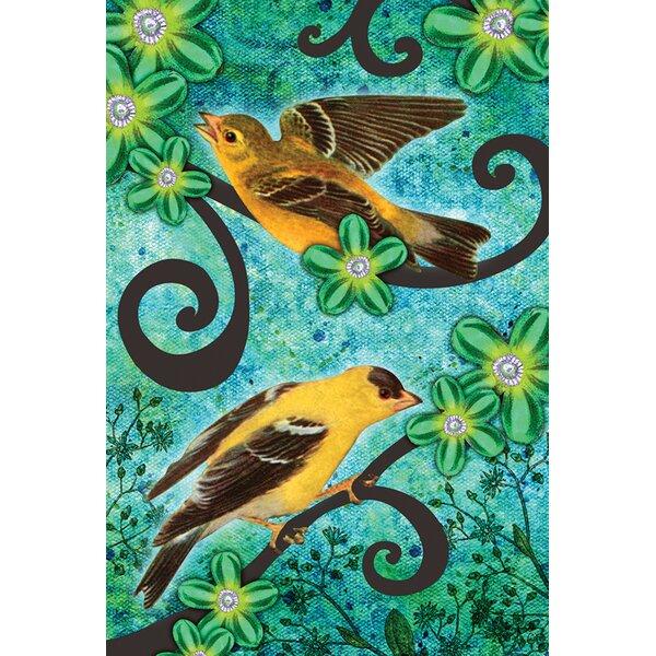 Goldfinches Garden flag by Toland Home Garden
