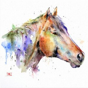 'Horse Abstract' Painting Print on Wrapped Canvas by East Urban Home