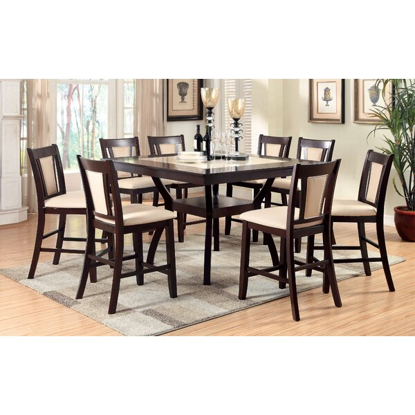 Wilburton 9 Piece Counter Height Pub Table Set by Darby Home Co