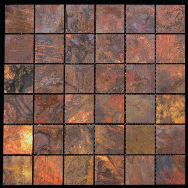 11.88 x 11.88 Copper Metal Tile in Multi by Legion Furniture