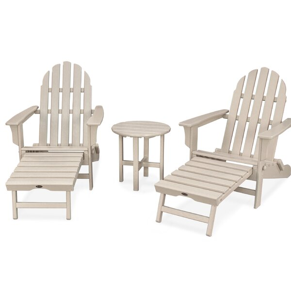 Cape Cod Ultimate Plastic/Resin Adirondack Set by Trex Outdoor Trex Outdoor