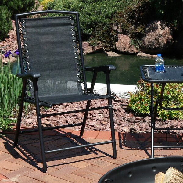 Serenity Outdoor Suspension Folding Patio Chair (Set of 2) by Freeport Park