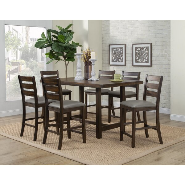 Emery 7 Piece Pub Table Set by Millwood Pines Millwood Pines