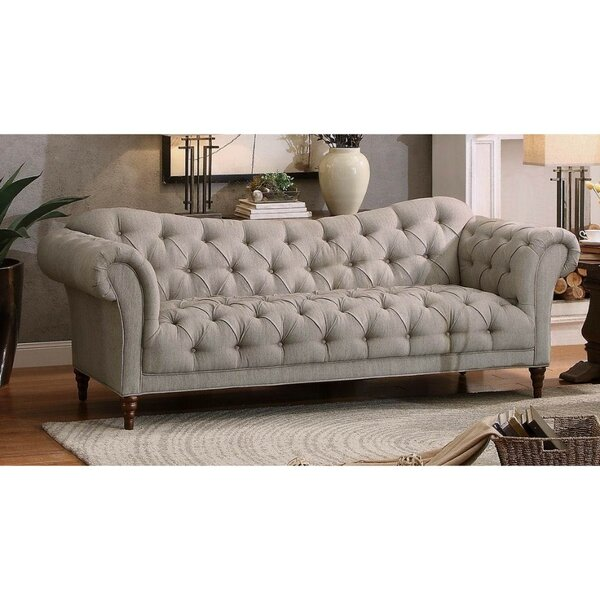Esmeralda Chesterfield Sofa by Rosdorf Park