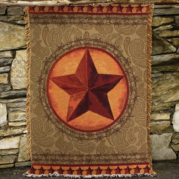 Western Star Tapestry Cotton Throw by Manual Woodworkers & Weavers