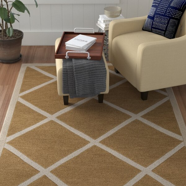 Cleitus Burnt Orange/Ivory Area Rug by Red Barrel Studio