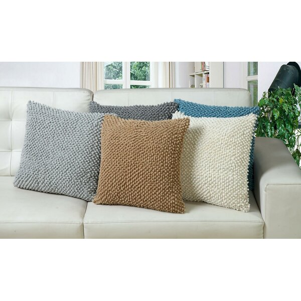 Kwiatkowski Felt Ball Cotton Throw Pillow by Wrought Studio
