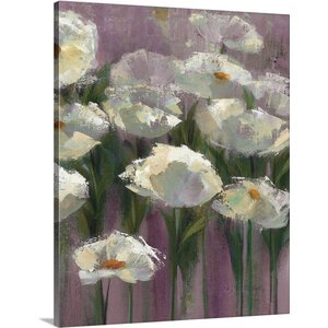 'Anemones' by the Lake Purple III' by Silvia Vassileva Painting Print on Canvas by Great Big Canvas
