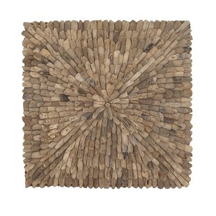 Exceptional Natural Burst Style Square Driftwood Wall Décor