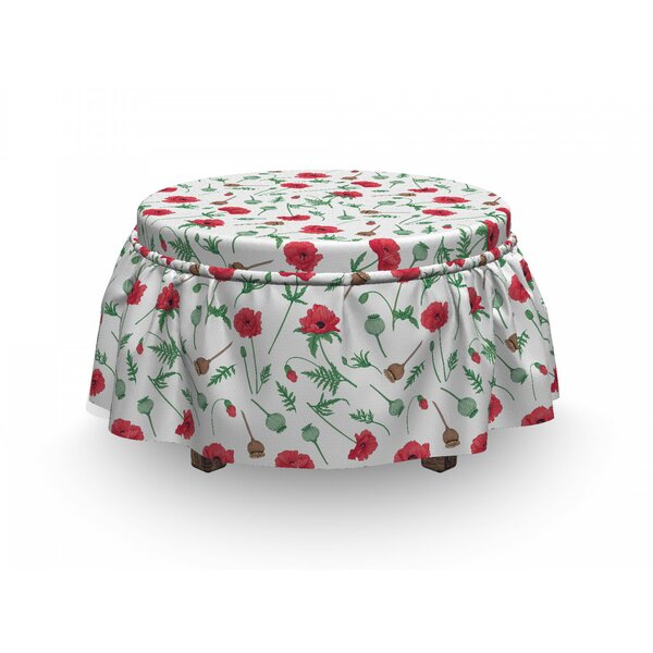 Forestry Garden Art Ottoman Slipcover (Set Of 2) By East Urban Home