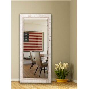 Natural Wood Floor Mirror | Wayfair