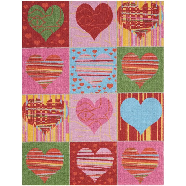 Triston Pink Area Rug by Zoomie Kids
