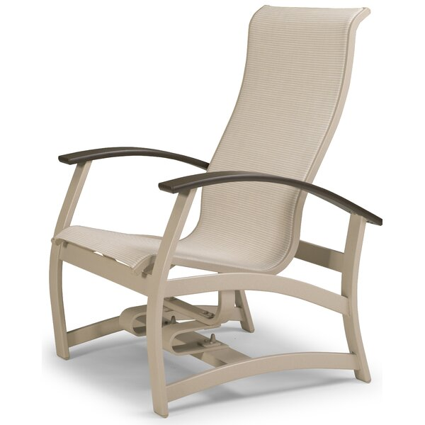 Belle Isle Marine Grade Sling Hidden Motion Chat Patio Chair by Telescope Casual