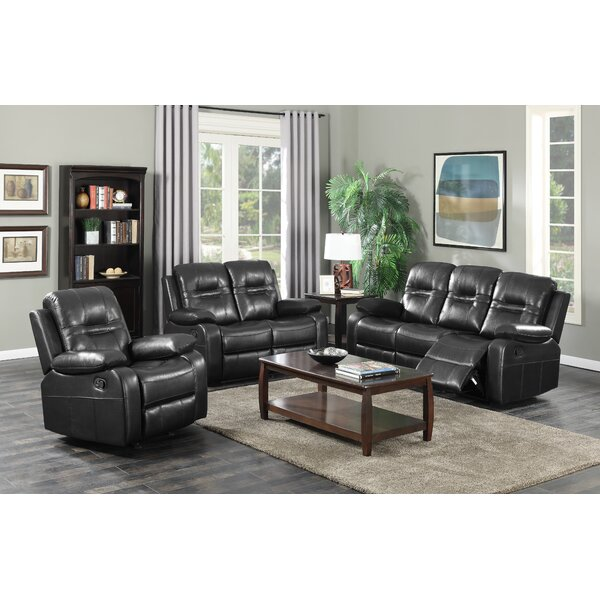 Napolean Reclining 3 Piece Living Room Set by Brassex