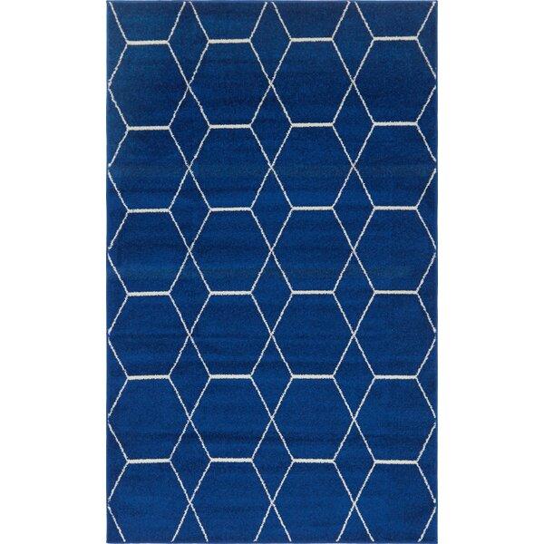 Eiler Trellis Blue Area Rug by Wrought Studio