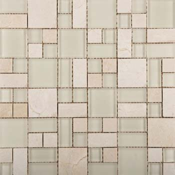 Lucente 13 x 13 Glass Stone Blend Pattern Mosaic Tile in Campo by Emser Tile