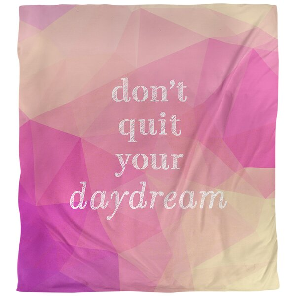 Quotes Faux Gemstone Don't Quit Your Daydream Single Reversible Duvet Cover