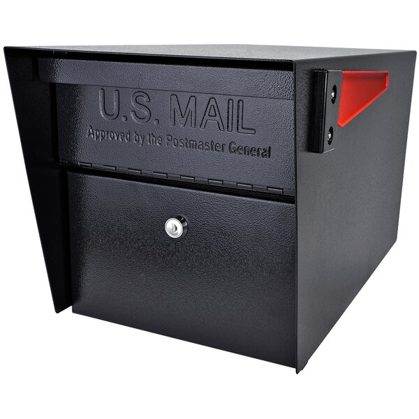 Mail Manager Locking Post Mounted Mailbox by Mail Boss