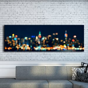 'City Lights' Photographic Print on Wrapped Canvas by Benjamin Parker Galleries