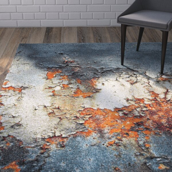 Acord Blue/Brown Area Rug by Wrought Studio