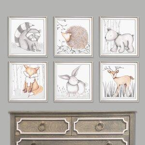 Forest Flynn Fox Framed Art by Doodlefish