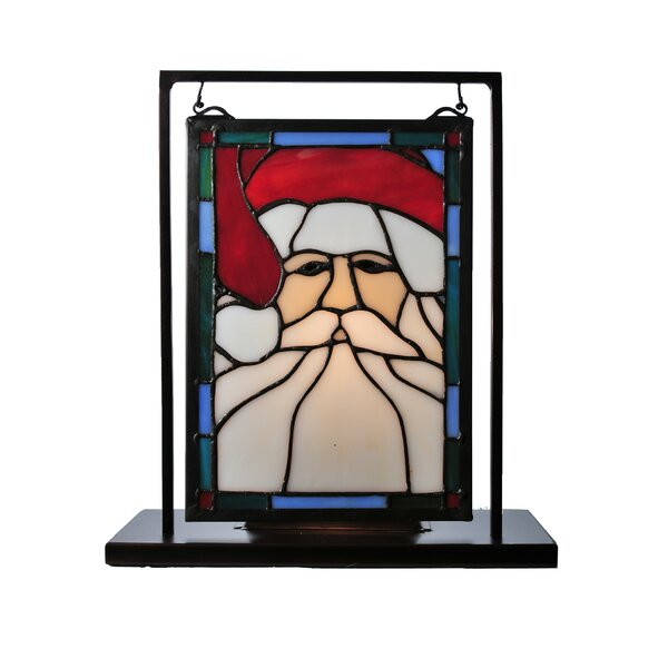 Holiday Santa Head Lighted Mini Lamp by Meyda Tiffany